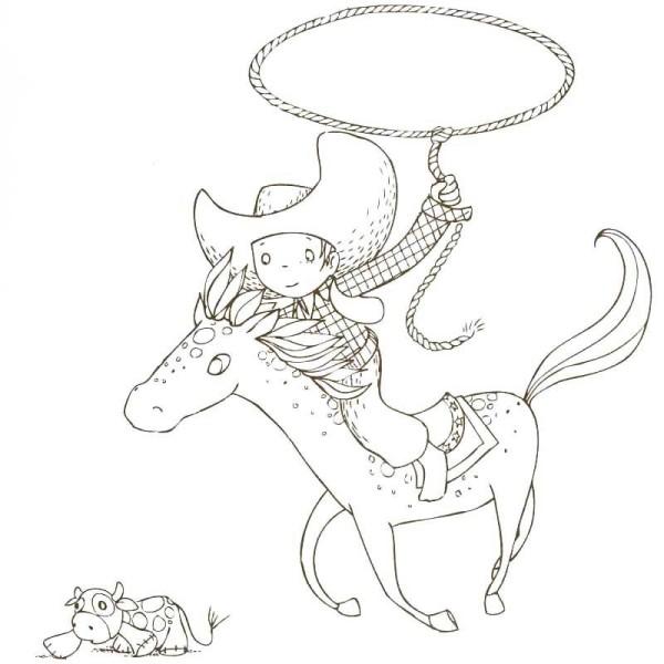 Cahier de coloriage Cap Canaille Matteo le Cowboy - 80 pages - Photo n°5
