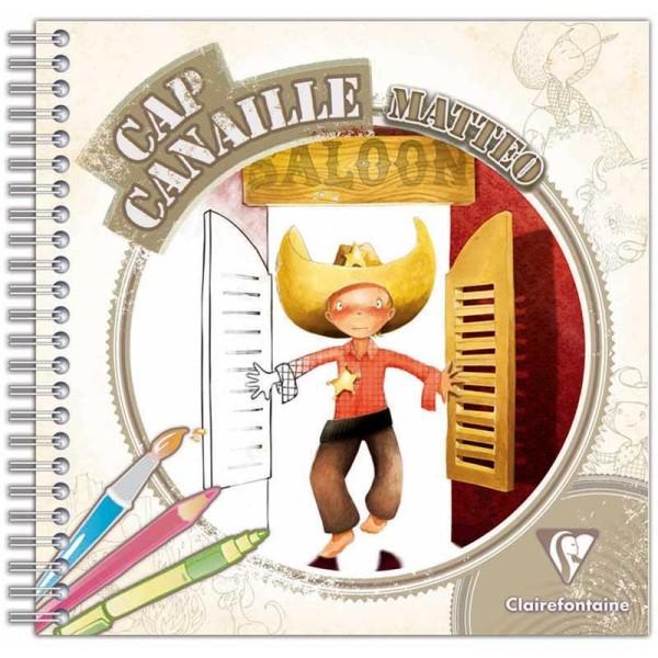Cahier de coloriage Cap Canaille Matteo le Cowboy - 80 pages - Photo n°1