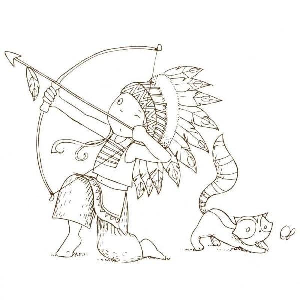Cahier de coloriage Cap Canaille Eliott l'indien - 80 pages - Photo n°5