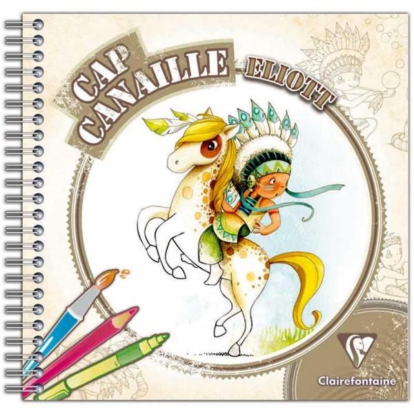 Cahier de coloriage Cap Canaille Eliott l'indien - 80 pages - Photo n°1