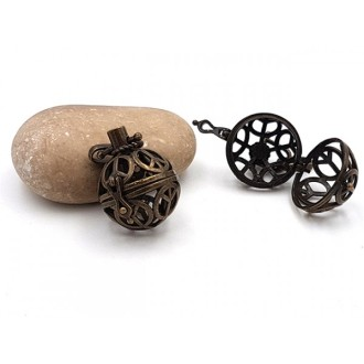 2 Breloques Cages Peace Paix Bronze Pour Création De Bolas De Grossesse