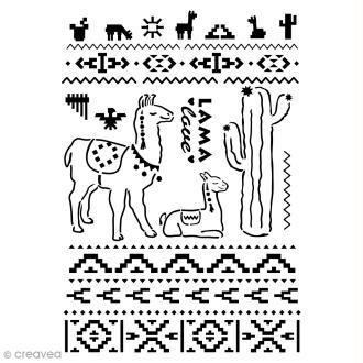 Pochoir multiusage A4 - Lamas Cactus