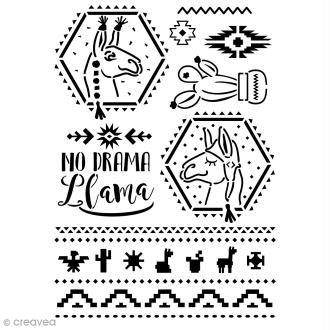 Pochoir multiusage A4 - No Drama Llamas