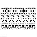 Pochoir multiusage 15 x 10 cm - Motifs Aztèques - Photo n°1