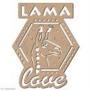 Forme bois - Cadre Lama love - 12 x 15 cm - 1 pce