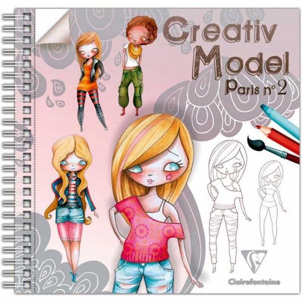Carnet de dessin Créativ' Model Paris 2 Fashion - 50 pages - Photo n°1