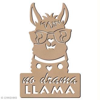 Forme bois - Lama à lunettes No Drama - 7,5 x 12 cm - 1 pce