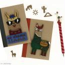 Forme bois - Lama à lunettes No Drama - 7,5 x 12 cm - 1 pce - Photo n°2