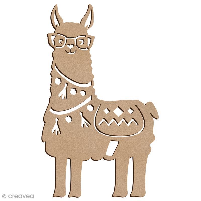 Forme bois - Lama à lunettes - 7 x 12 cm - 1 pce - Photo n°1