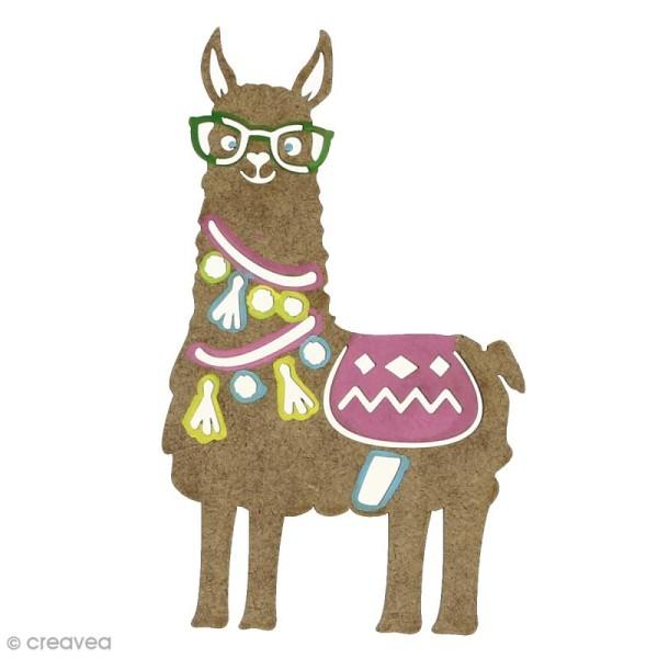 Forme bois - Lama à lunettes - 7 x 12 cm - 1 pce - Photo n°2