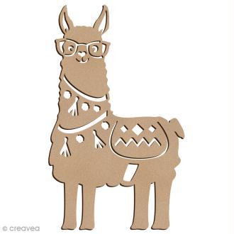 Forme bois - Lama à lunettes - 7 x 12 cm - 1 pce