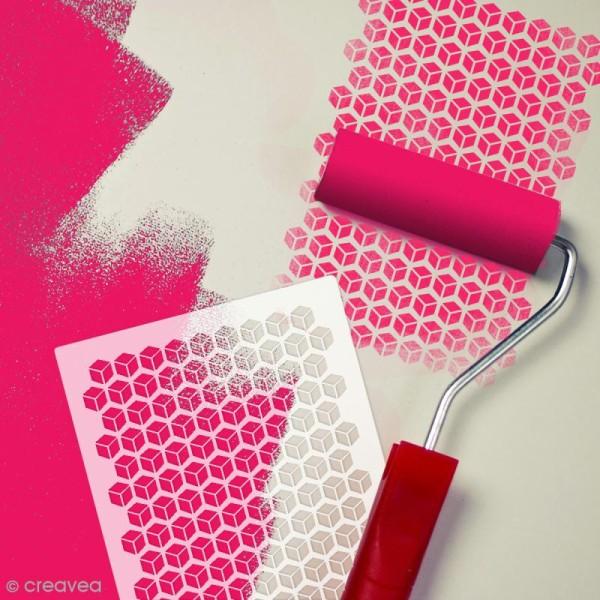 Pochoir multiusage A4 - Cubes 3D ajourés - Photo n°2