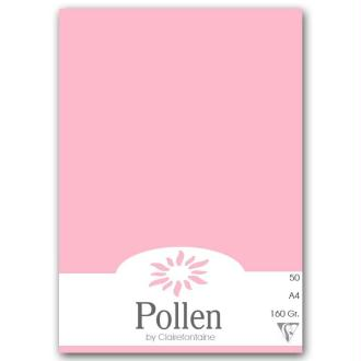 Papier Pollen A4 50 feuilles - Rose dragée