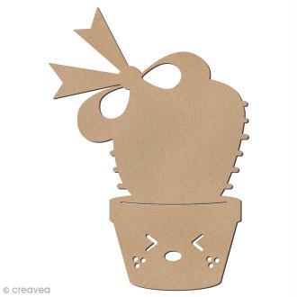 Cactus de Noël en bois à décorer - Cactus noeud - 8,5 cm - 1 pce