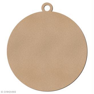 Forme en bois à suspendre - Boule de Noël - 6,5 cm - 1 pce