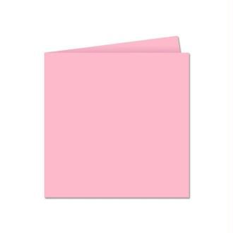 Papier Pollen carte double 135 x 135 Rose dragée x 25