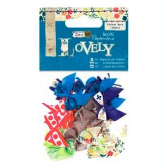 20 noeux en tissu Scrapbooking couture 2.5 X 2.3 cm Papermania LOVELY