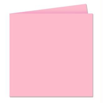 Papier Pollen carte double 160 x 160 Rose dragée x 25