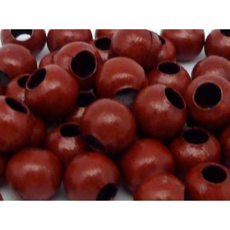 60g Environ 240 Perles Métallique Ronde 6mm Rouge