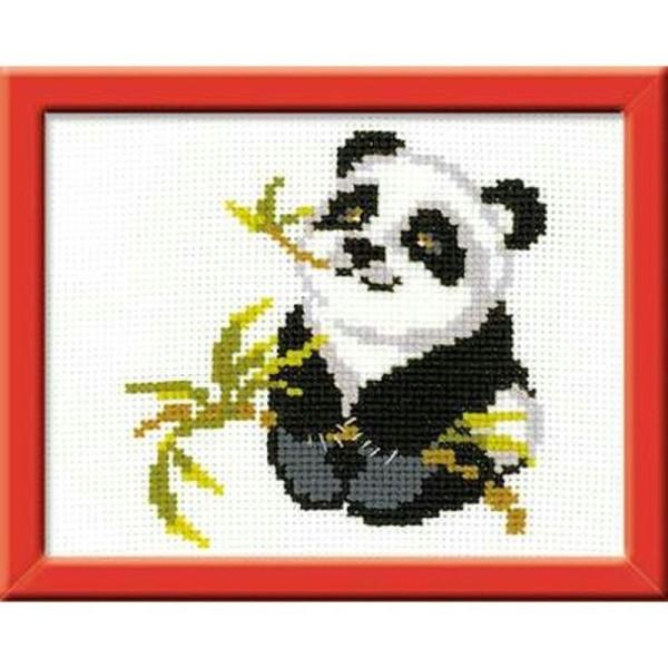 Riolis HB061 Panda Broderie Point de Croix Compté Facile pour enfants - Kit broderie - Creavea
