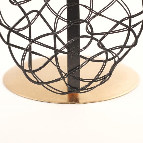 Porte bijoux buste métal pour un collier Noir et doré - Photo n°3