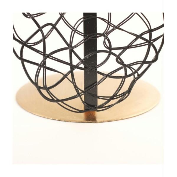 Porte bijoux buste métal pour un collier Noir et doré - Photo n°4