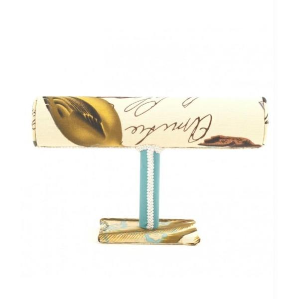 Porte bijoux support bracelet montres en tissu multicolore Multicolore - Photo n°3
