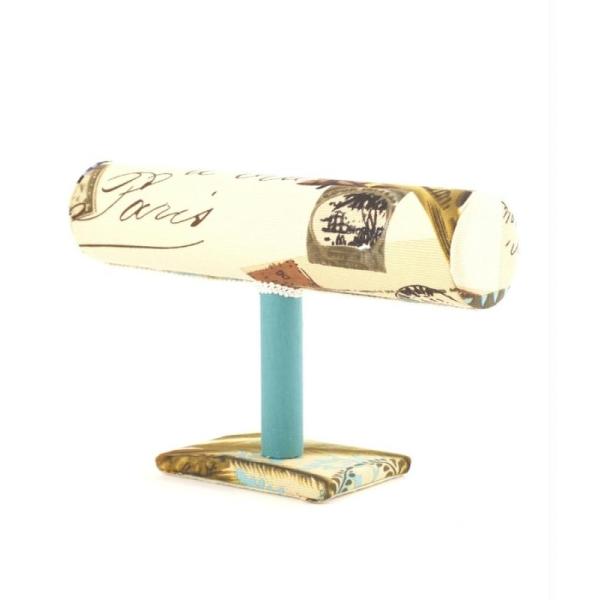 Porte bijoux support bracelet montres en tissu multicolore Multicolore - Photo n°4