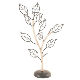 Porte bijoux arbre noir en métal et sisal Noir