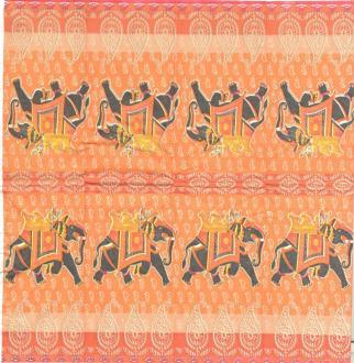 4 Mouchoirs en papier éléphant Inde