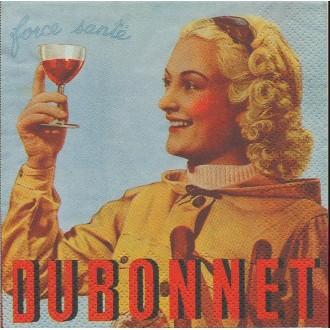 4 Serviettes en papier Publicité Cognac Martell Format Cocktail