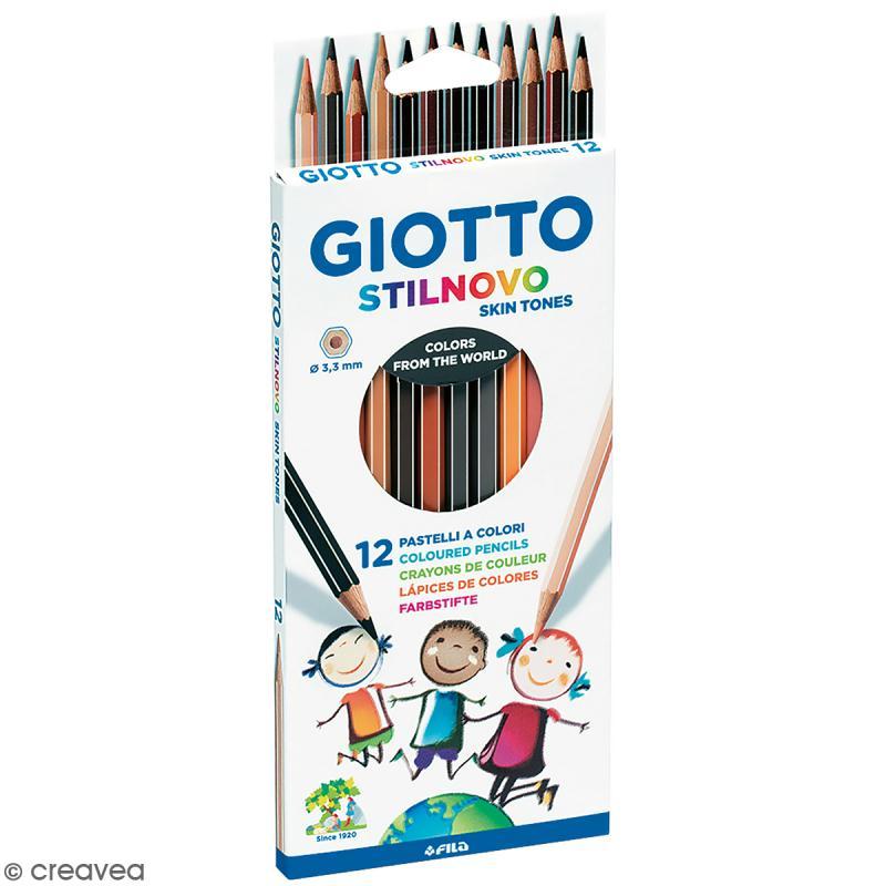 Etui de 12 crayons de couleurs GIOTTO Stilnovo Skin tones - Couleurs de peau - Photo n°1