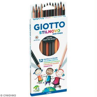 Etui de 12 crayons de couleurs GIOTTO Stilnovo Skin tones - Couleurs de peau