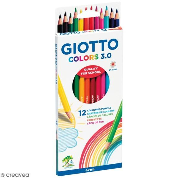 Etui de 12 crayons de couleurs GIOTTO Colors 3.0 - Photo n°1
