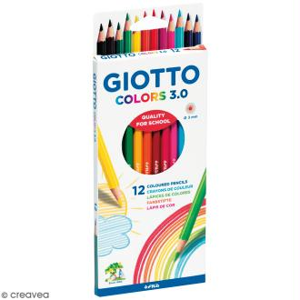 Etui de 12 crayons de couleurs GIOTTO Colors 3.0