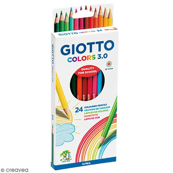 Etui de 24 crayons de couleurs GIOTTO Colors 3.0 - Photo n°1