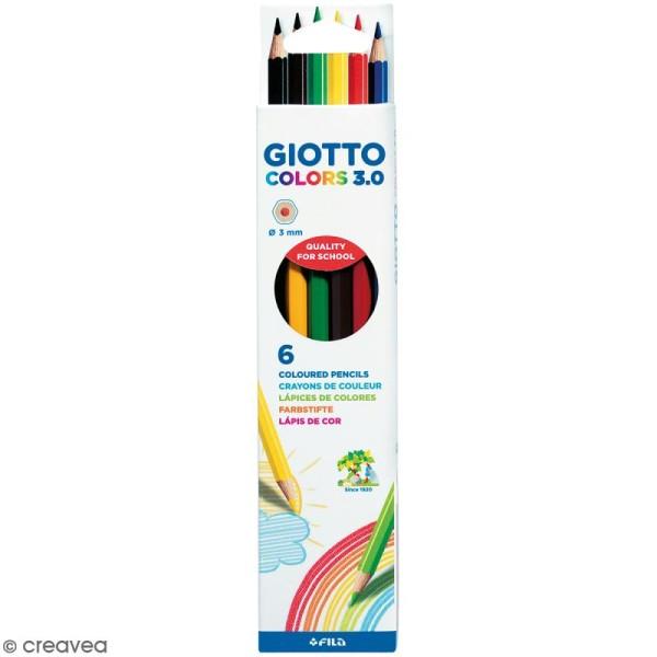 Etui de 6 crayons de couleurs GIOTTO Colors 3.0 - Photo n°1