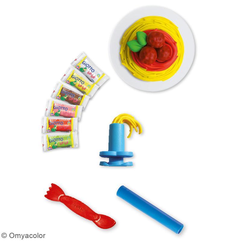 Set Pâte à modeler GIOTTO Bébé - Spaghetti - 16 pcs - Photo n°2