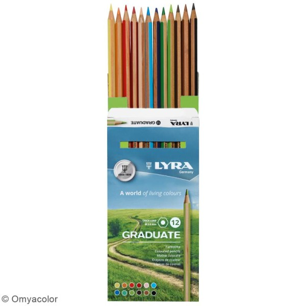 12 crayons de couleur LYRA Graduate - 3,8 mm - Photo n°2