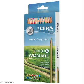 12 crayons de couleur LYRA Graduate - 3,8 mm