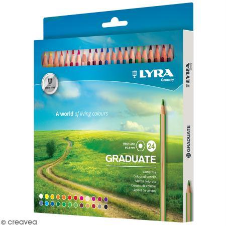 24 crayons de couleur LYRA Graduate - 3,8 mm - Lyra