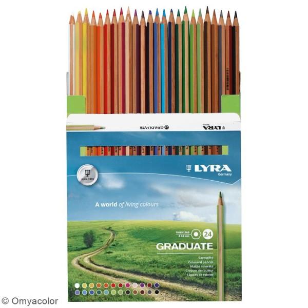 24 crayons de couleur LYRA Graduate - 3,8 mm - Photo n°2