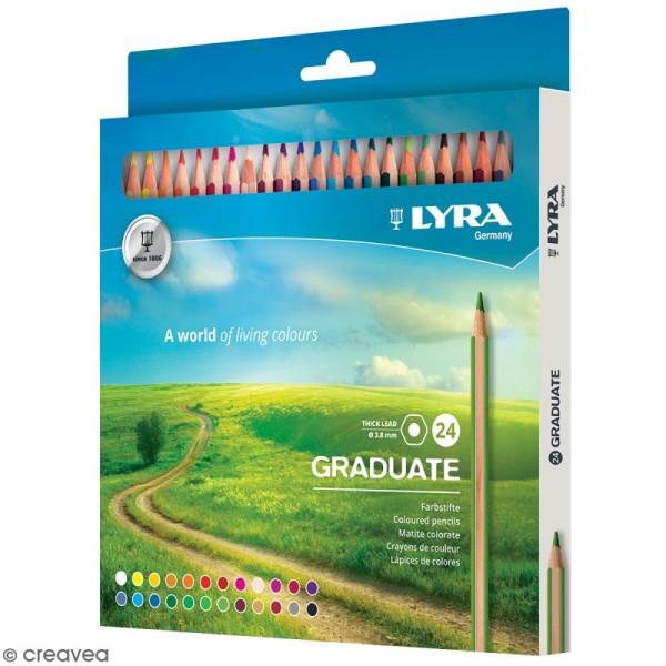 24 crayons de couleur LYRA Graduate - 3,8 mm - Photo n°1