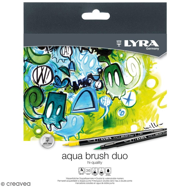 Feutre Pinceau Aqua Brush Duo LYRA - 36 pcs - Photo n°1