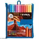 Pochette de stylo feutres LYRA Graduate - Pointe fine - 24 couleurs