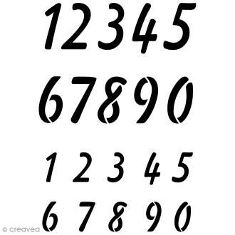 Pochoir multiusage A4 - Chiffres écriture main