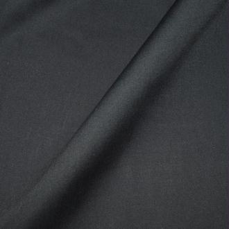 Tissu popeline coton noir - 100% coton (par multiple de 20cm)
