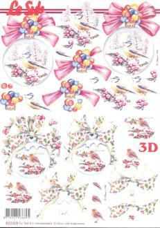 Feuille 3D à découper A4 Boule de Noël
