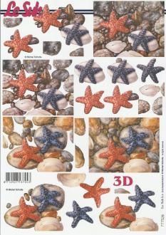 Feuille 3D à découper A4 étoile de Mer