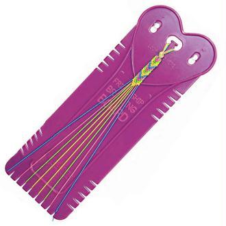 Plateau en plastique pour tresser Colliers & Bracelets avec notice d'utilisation